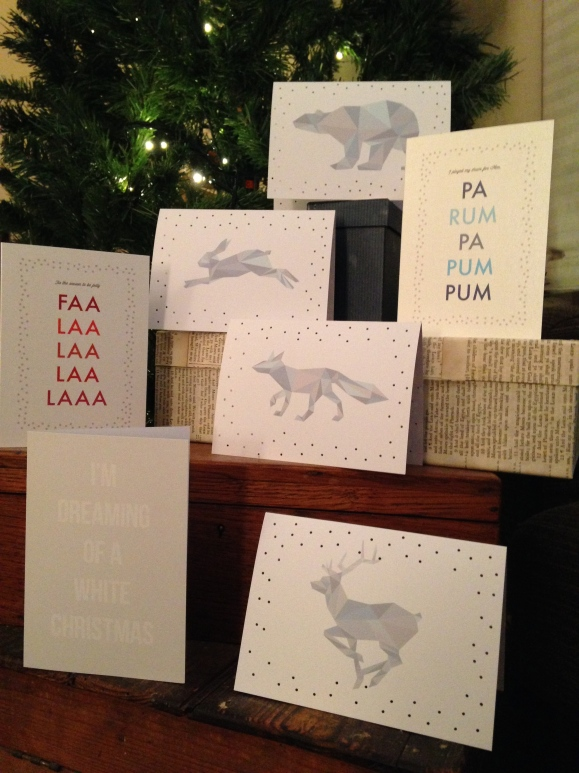 Selection of my Christmas card designs 2014