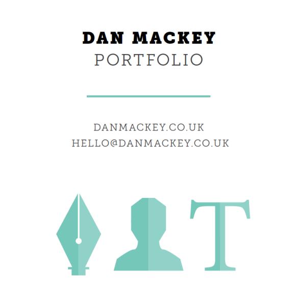 Modern clean portfolio CV design