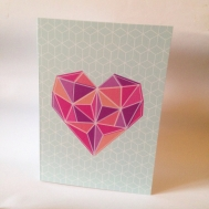 Geometric cool hipster card