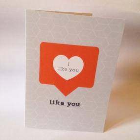 Instagram Valentines day card