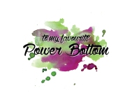 Power bottom gay poster print design