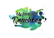 Typography print douchbag
