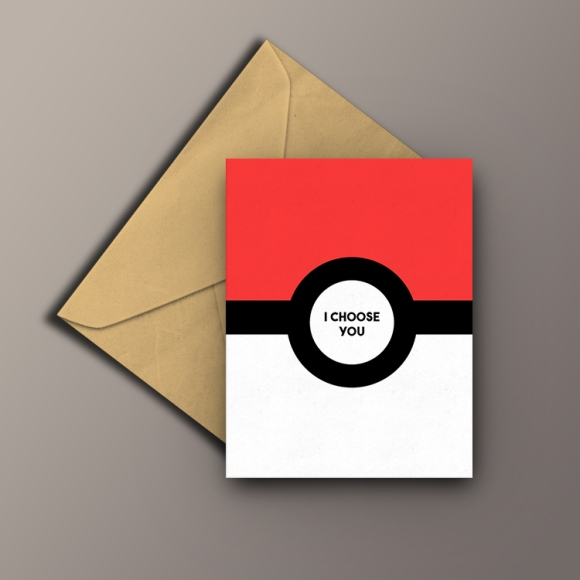 Gay valentines pokemon geek pokeball card